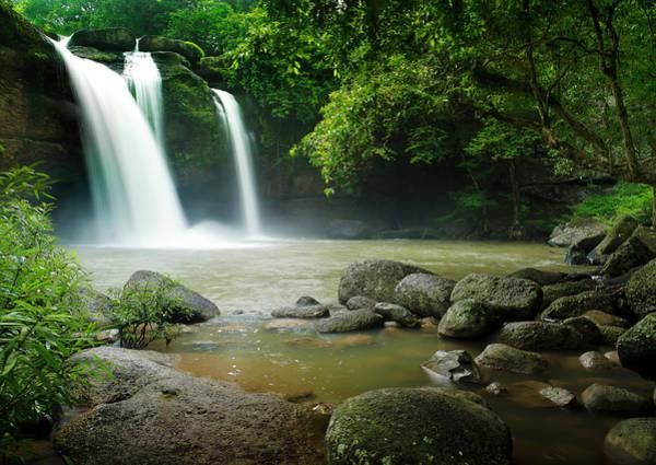 Thailand Photograph - Haewsuwat Waterfall In Thailand by Tanatat Pongphibool ,thailand
