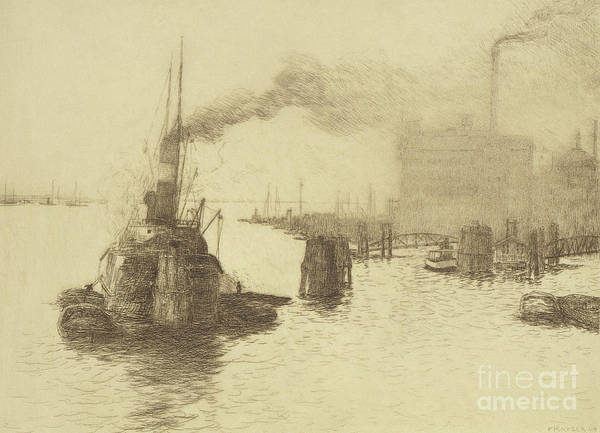 Wall Art - Drawing - Hafen, 1904 by Jean Paul Kayser