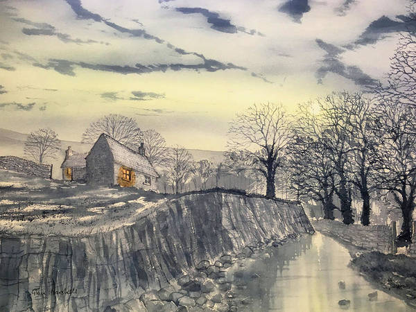 Kettlewell Painting - Hag Dyke By Moonlight by Glenn Marshall