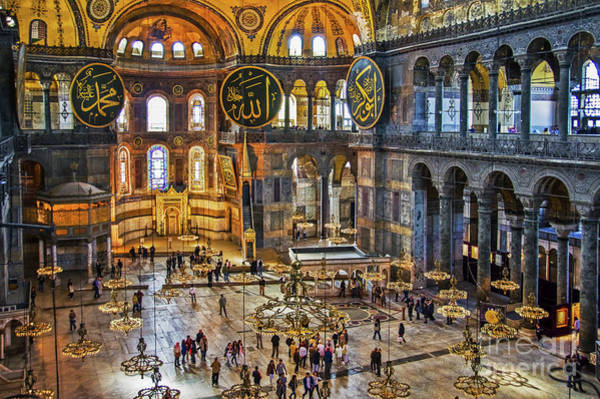 Istanbul Photograph - Hagia Sofia by Delphimages Photo Creations