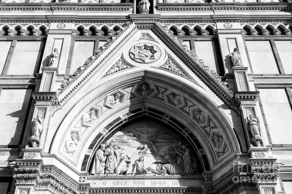 Photograph - Hail To The Cross Our Only Hope At The Basilica Di Santa Croce In Florence by John Rizzuto