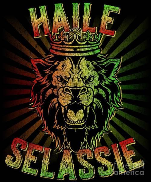 Jamaica Digital Art - Haile Selassie Jah Rastafari by Flippin Sweet Gear
