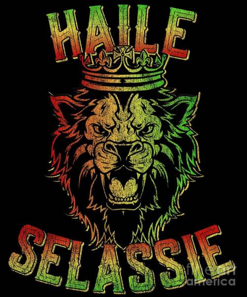 Jamaica Digital Art - Haile Selassie Jah Rastafari Reggae by Flippin Sweet Gear