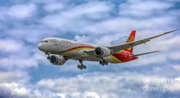 Wall Art - Photograph - Hainan Airlines In Flight  by Chuck Kuhn