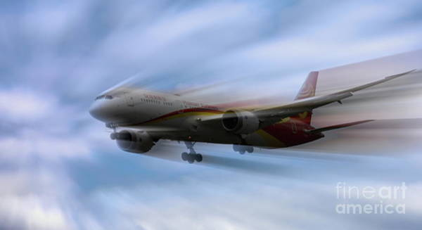 Wall Art - Photograph - Hainan Airlines On The Move  by Chuck Kuhn