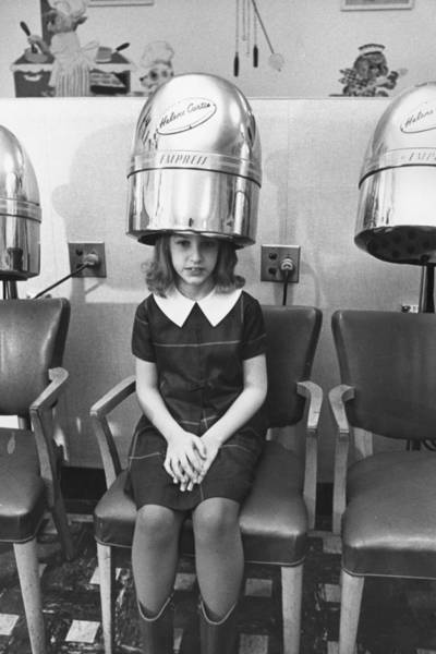 Teenager Photograph - Hairdrying Salon by Three Lions