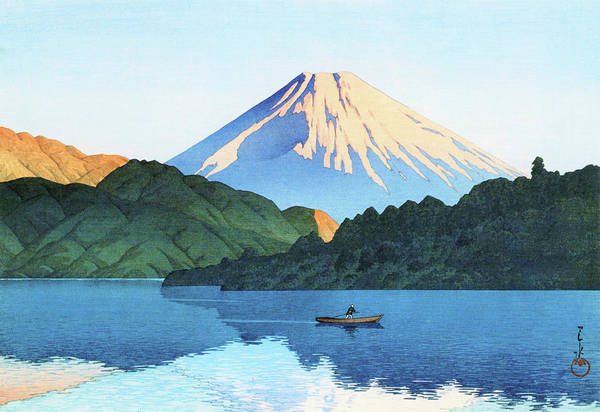 Wall Art - Painting - Hakone, Ashino Lake - Digital Remastered Edition by Kawase Hasui