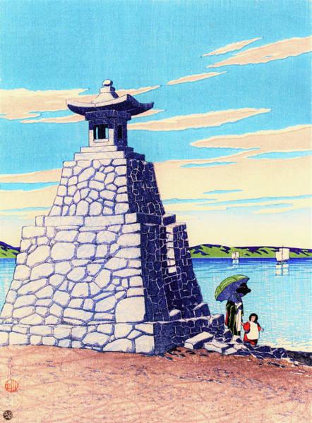 Wall Art - Painting - Hakozaki, Chikuzen, The Series Selection Of Scenes Of Japan - Digital Remastered Edition by Kawase Hasui