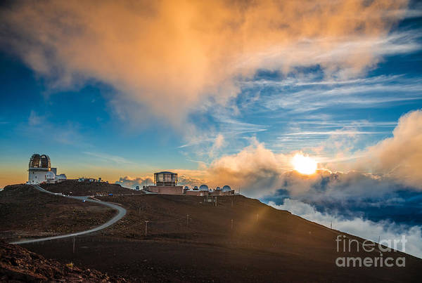 Maui Sunset Wall Art - Photograph - Haleakala Crater At Sunset, At by Alexander Demyanenko