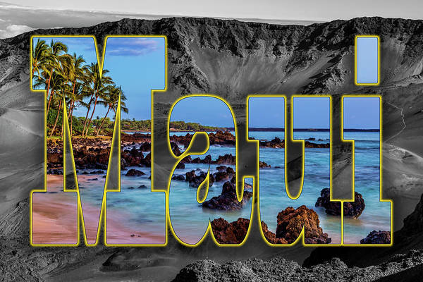 Wall Art - Photograph - Haleakala Maui Beach Graphic by Kelley King