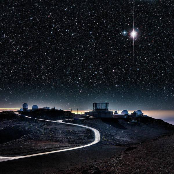 Photograph - Haleakala Observatories, Maui by Ed Freeman