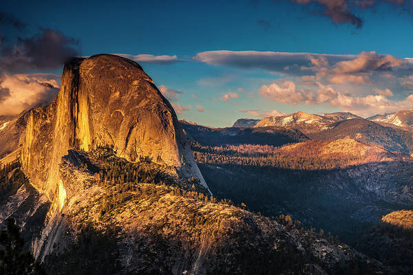 Wall Art - Photograph - Half Dome At Dusk by Andrew Soundarajan