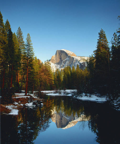 Wall Art - Photograph - Half Dome Reflected In Merced River by Australian Scenics