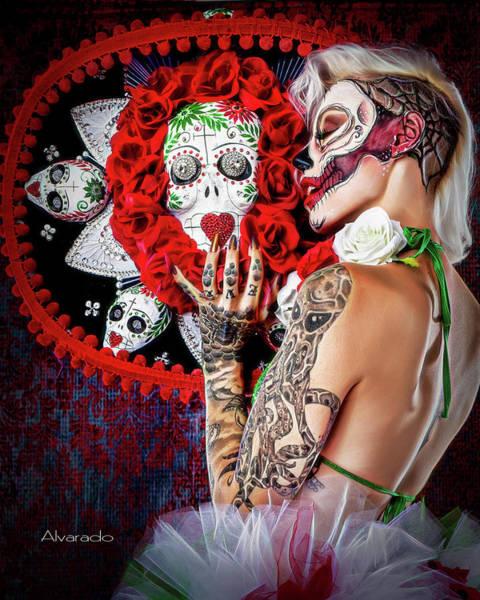 Dod Digital Art - Half Face D O D by Robert Alvarado