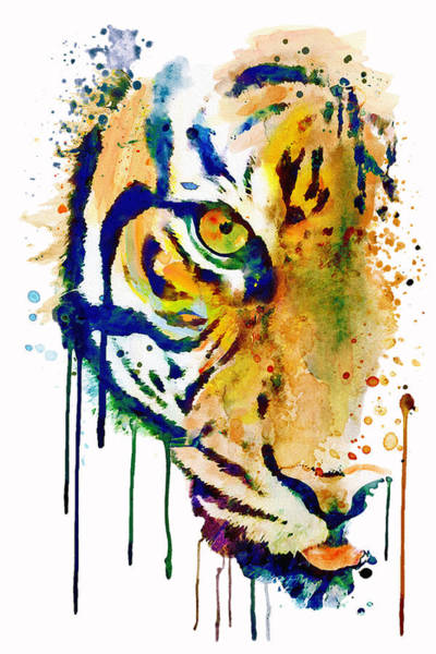 Wall Art - Painting - Half Faced Tiger by Marian Voicu