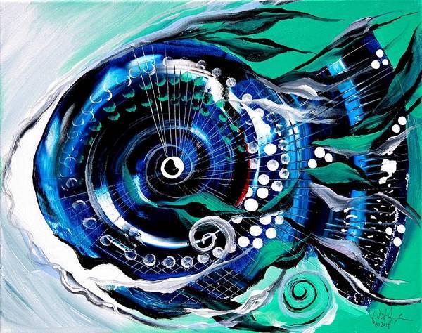 Half-smile, Break The Ice Fish Art Print