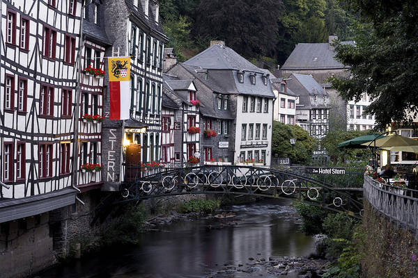 Rhine River Photograph - Half Timbered Houses Along The River by H & D Zielske / Look-foto