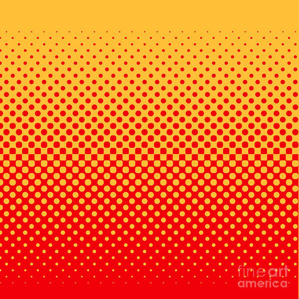 Wall Art - Digital Art - Halftone Vector Illustration by Murat Baysan