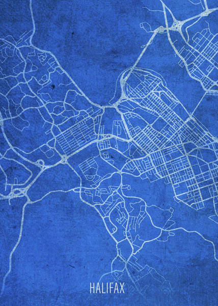 Halifax Wall Art - Mixed Media - Halifax Canada City Street Map Blueprints by Design Turnpike