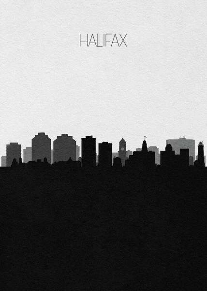 Halifax Wall Art - Digital Art - Halifax Cityscape Art by Inspirowl Design