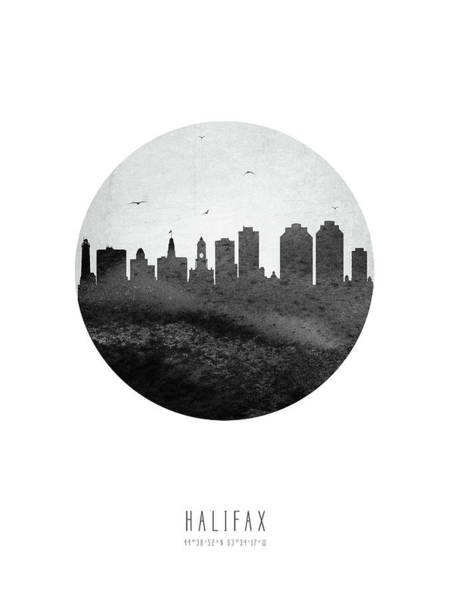 Halifax Wall Art - Digital Art - Halifax Skyline Canshx04 by Aged Pixel