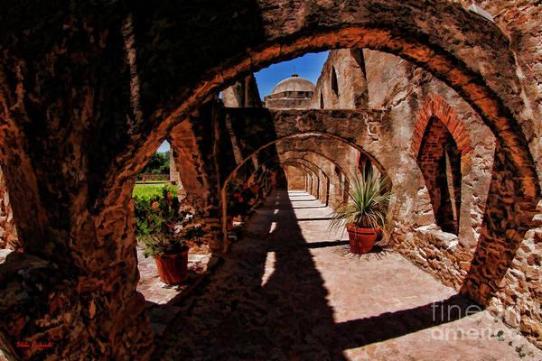Photograph - Hall Way Mission San Jose San Antonio Texas by Blake Richards