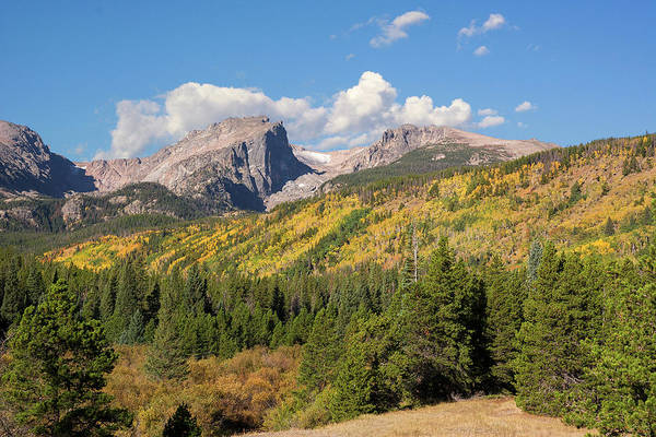 Photograph - Hallett And Flattop - Autumn by Aaron Spong