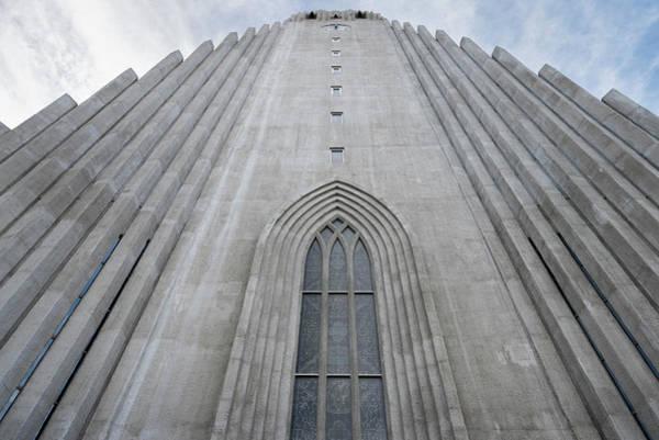 Wall Art - Photograph - Hallgrimskirkja Facade And Bell Tower In Reykjavik by RicardMN Photography