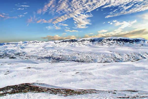 Photograph - Hallingskarvet Mountain Landscape by Anthony Dezenzio
