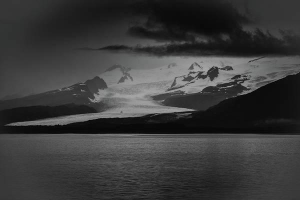 Photograph - Hallo Glacier In Black And White by Mark Hunter