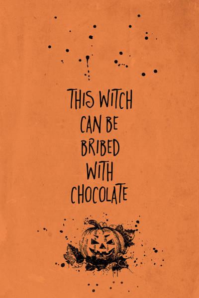 Pumpkin Digital Art - Halloween Bribed With Chocolate by Melanie Viola