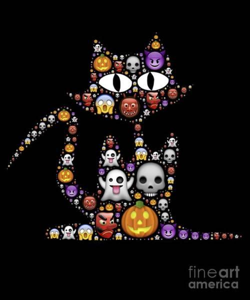 Digital Art - Halloween Cat by Flippin Sweet Gear