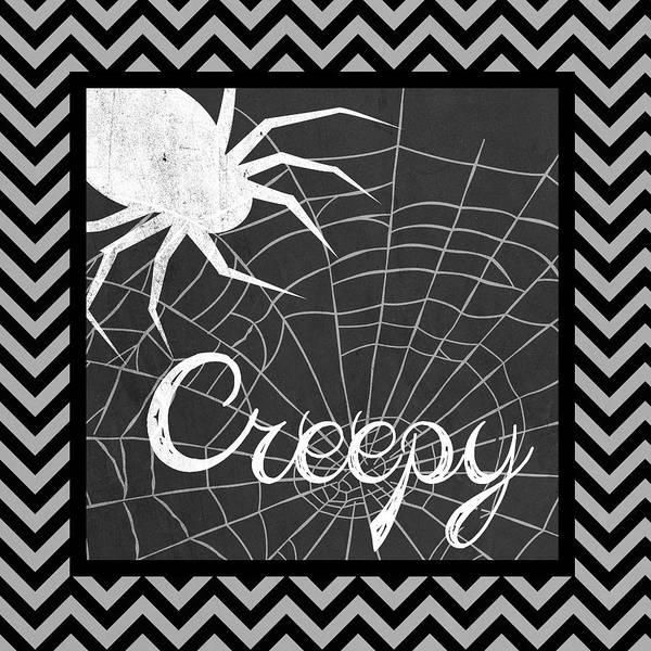 Spider Digital Art - Halloween Chevron II by Sd Graphics Studio