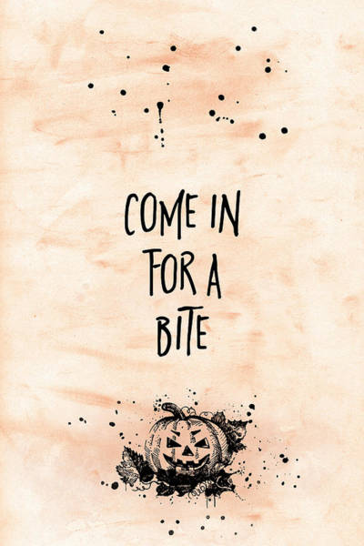 Wall Art - Digital Art - Halloween Come In For A Bite by Melanie Viola
