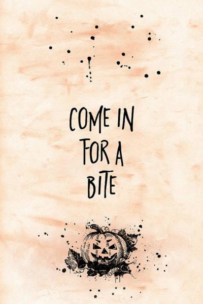 Pumpkin Digital Art - Halloween Come In For A Bite by Melanie Viola