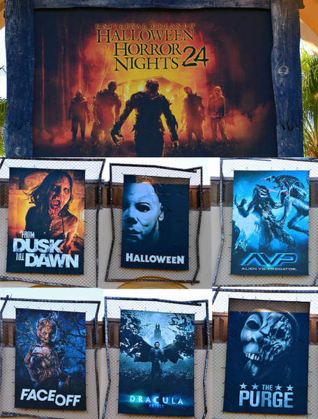 Wall Art - Photograph - Halloween Horror Nights 24 Tribute Poster by David Lee Thompson