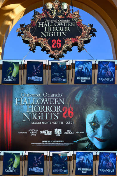 Wall Art - Photograph - Halloween Horror Nights 26 Tribute Poster by David Lee Thompson