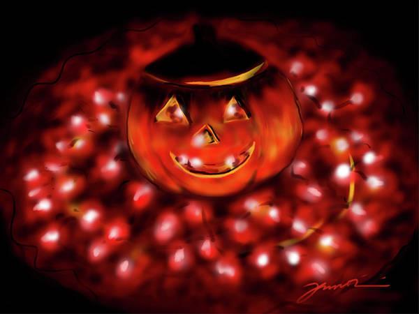 Painting - Halloween Lights by Jean Pacheco Ravinski