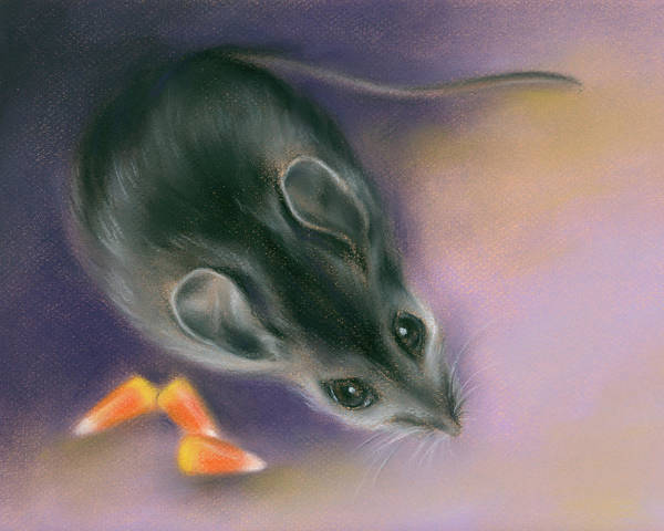 Pastel - Halloween Mouse With Candy Corn by MM Anderson