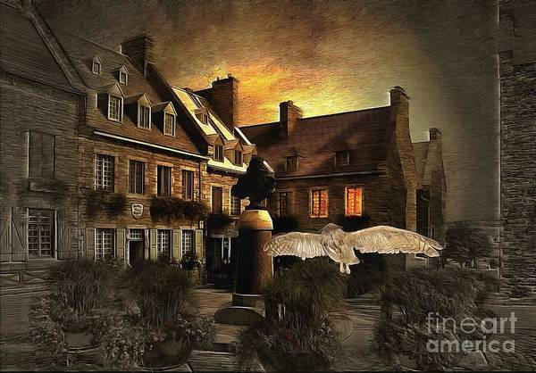 Quebec City Digital Art - Halloween Mystery Night At Place Royale by Louise Lavallee