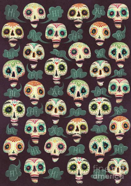 Trick Or Treat Digital Art - Halloween Pattern by Runa Anastasiya Rudaya