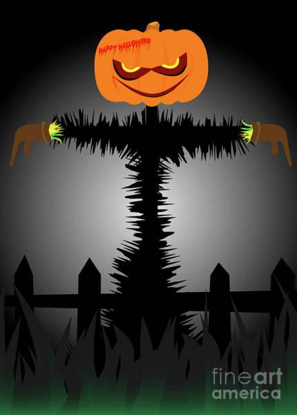 Ugly Digital Art - Halloween Scarecrow by Bigalbaloo Stock