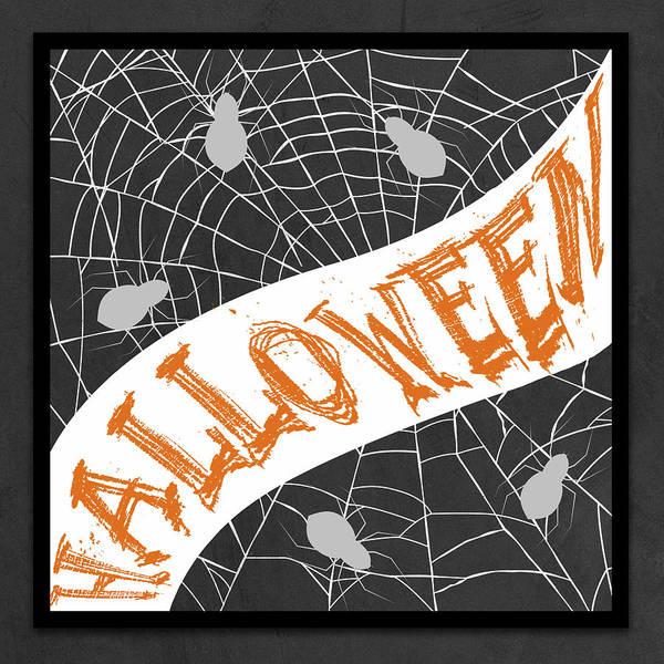 Spider Digital Art - Halloween Spiders by Sd Graphics Studio