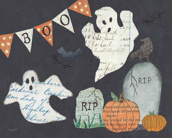 Wall Art - Painting - Halloween Whimsy IIi by Courtney Prahl