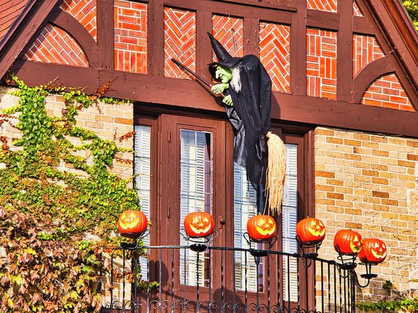 Photograph - Halloween Witch And Pumpkins - Madison - Wisconsin by Steven Ralser