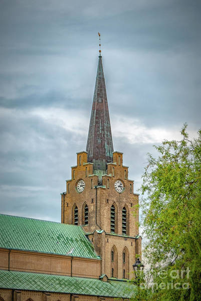 Wall Art - Photograph - Halmstad Church Spire by Antony McAulay