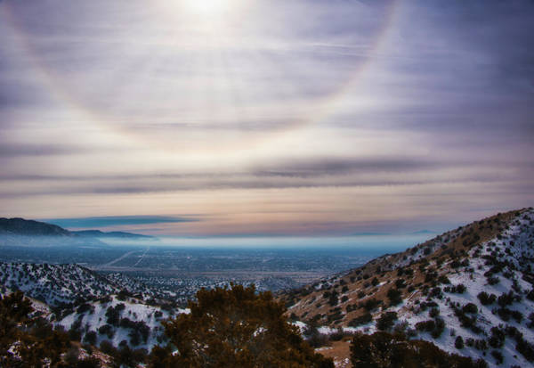 22 Degree Halo Wall Art - Photograph - Halo Over Albuquerque by Jane Selverstone