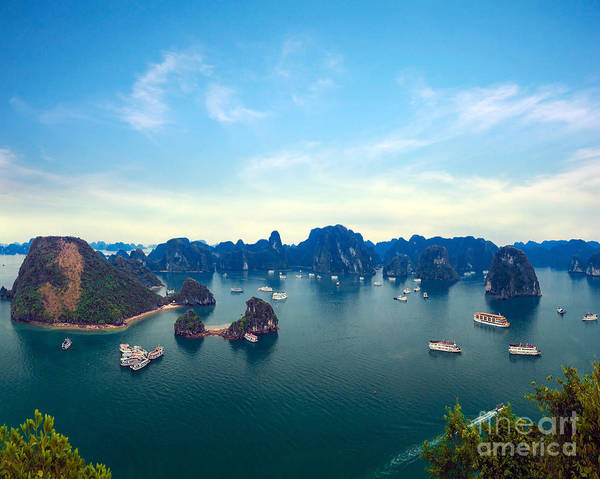 East Asia Wall Art - Photograph - Halong Bay Panorama In Vietnam by Banana Republic Images