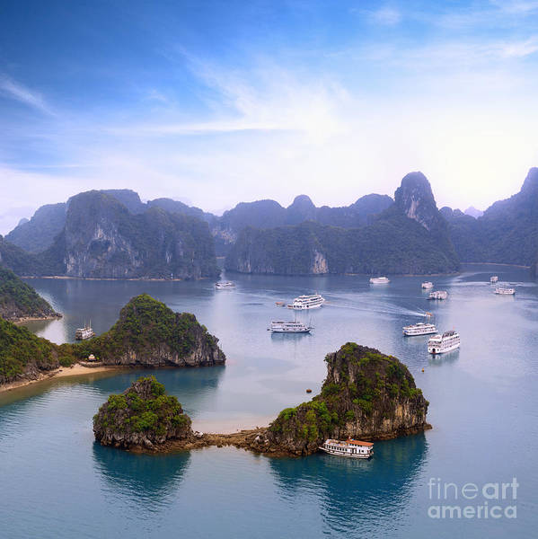 Wall Art - Photograph - Halong Bay Vietnam Panorama. Beautiful by Banana Republic Images
