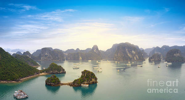 East Asia Wall Art - Photograph - Halong Bay Vietnam Panoramic Sea View by Banana Republic Images